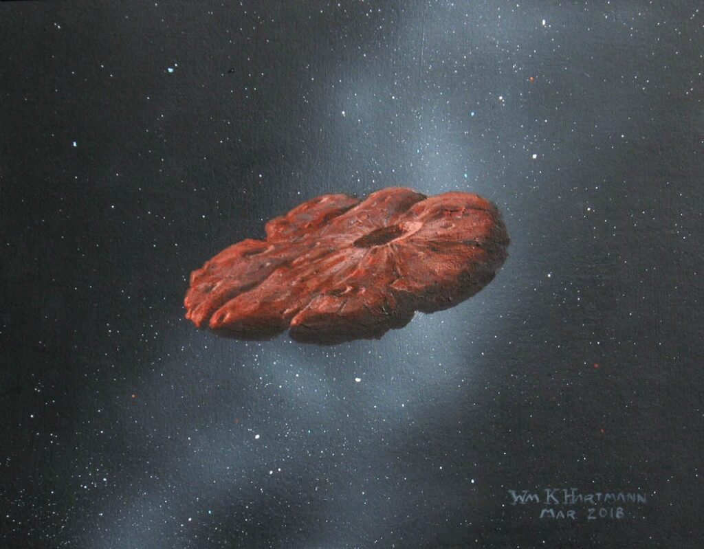 Interstellar object is cookie-shaped planet shard