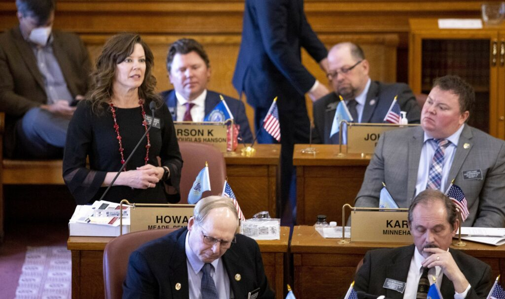 Noem pitches transgender sports ban; lawmakers say not now