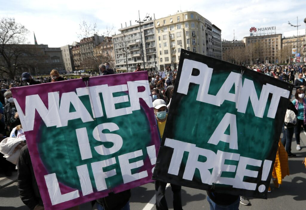 Thousands rally in Serbia to protect the environment