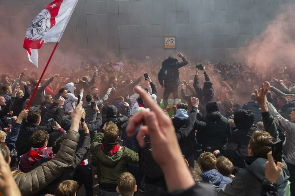 Ajax wins 35th Dutch title, police urge fans to stay away
